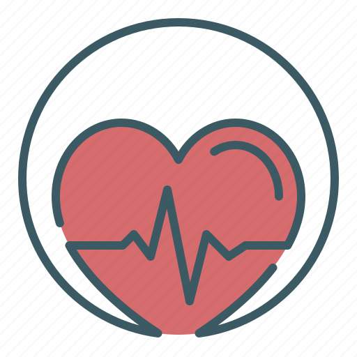 Beating, circle, first aid, heart, pulse, resurrection, revive icon - Download on Iconfinder