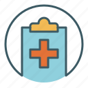 circle, document, file, health care, medical, report, write icon