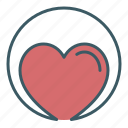 charity, circle, health, heart, love icon
