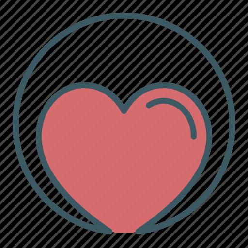 charity, circle, health, heart, love icon