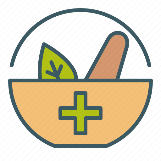 bowl, circle, crusher, healing, herb, medicine icon