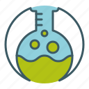 analysis, boiling, chemical, chemistry, flask, lab, liquid icon