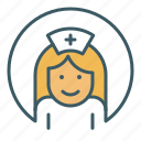 avatar, doctor, health care, hospital, medical, nurse, woman icon