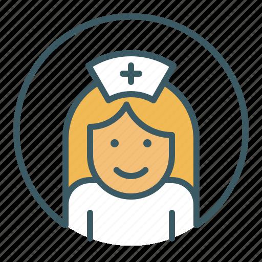 avatar, doctor, health care, hospital, medical, nurse, woman icon