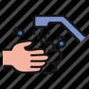 wash, hands, faucet, clean