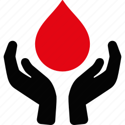 blood, hands, health care, healthcare, insurance, medicine, support icon