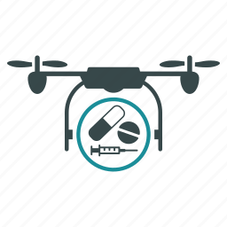 air drones, drug delivery, flying drone, nanocopter, pharmacy shipment, quad copter, quadcopter icon