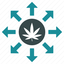 cannabis delivery, distributor, drug distribution, medication, medicine, pharmacy, shipping icon