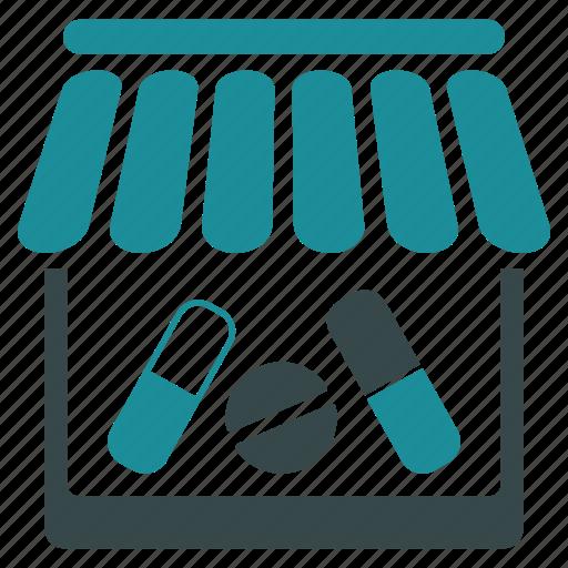 ambulance, clinic, drug shop, drugstore, hospital, medical, pharmacy icon