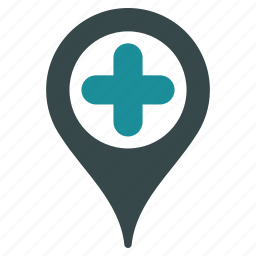 location, map marker, medical pointer, medicine, navigation, pin, point icon