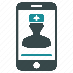 communication, doctor contact, first aid man, health, medic, mobile consultation, orderly icon