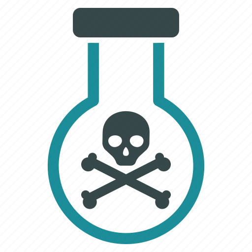 caution, danger, death, hazard, poison, risk, toxic chemicals icon