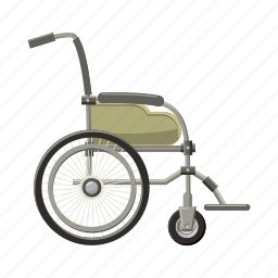 cartoon, disability, disabled, handicap, hospital, physical, wheelchair icon