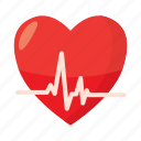 cardiogram, care, cartoon, heart, heartbeat, medical, pulse icon