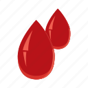 bleed, blood, cartoon, drip, drop, health, medicine icon