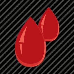 bleed, blood, cartoon, drip, drop, health, medicine icon