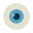 cartoon, eye, eyeball, eyelash, human, iris, vision icon