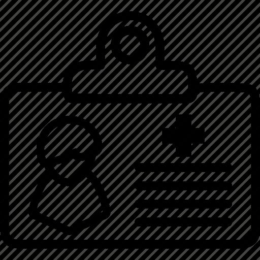 card, id, medical, person, profile icon