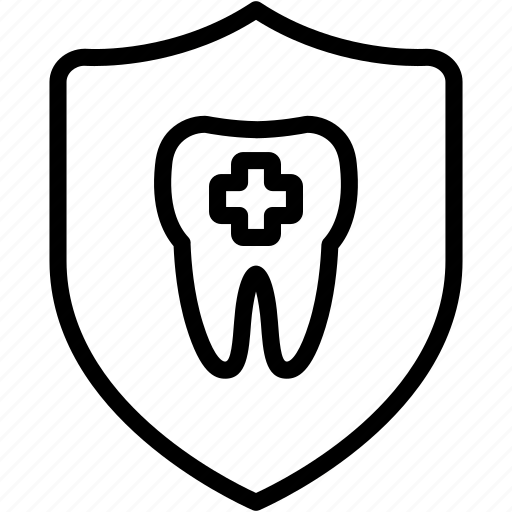 cavity, dental, dentist, protect, safety, shield, teeth icon