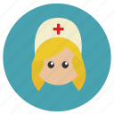 care, girl, hospital, medical, nurse, woman icon