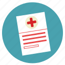 doctor, forms, hospital, medecine, medical, paper, prespcreption icon