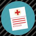 doctor, forms, hospital, medecine, medical, paper, prespcreption icon