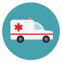 ambulance, emergency, hospital, medical, transportation icon