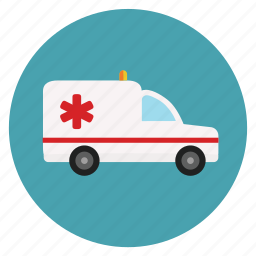 ambulance, emergency, hospital, medical, transportation icon