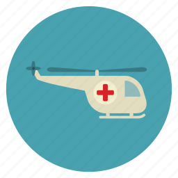 ambulance, clinic, emergency, helicopter, medical, safety, transportation icon