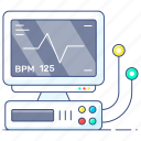 ecg, ecg monitor, electrocardiogram, heartbeat monitor, ecg machine, medical equipment