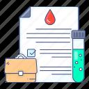 medical, test, results, medical document, medical test results, lab results, lab report icon