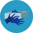 gloves, healthcare, hospital, lab, ppe, rubbergloves icon