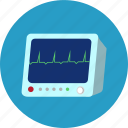 cardiology, doctor, electrocardiography, healthcare, heart, hospital, physiological monitor icon