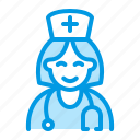doctor, female, medical, nurse icon