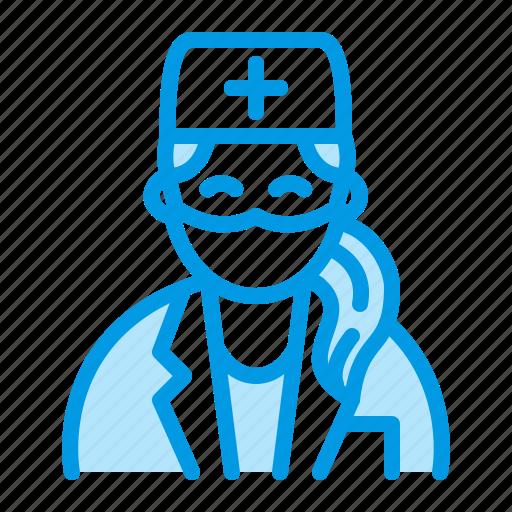 dentist, doctor, female, medical icon