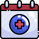 agenda, appointment, book, calendar, healthcare, hospital, medical icon