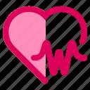 heart, medical, pulse icon