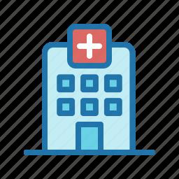 building, emergency, hospital, icu icon