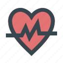 care, health, heart, heartbeat, medical, pulse, rate icon