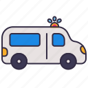 ambulance, car, emergency, hospital, medical, truck, urgent icon
