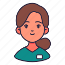 assistant, avatar, doctor, healthcare, hospital, nurse, woman icon