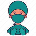 avatar, doctor, healthcare, man, medical, people, surgeon icon