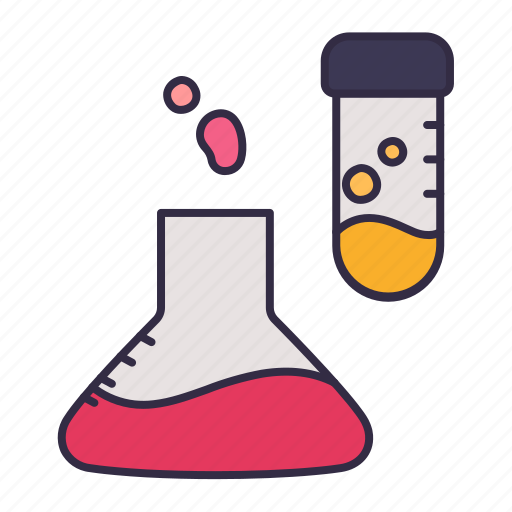 beaker, chemical, liquid, medical, science, test, tube icon