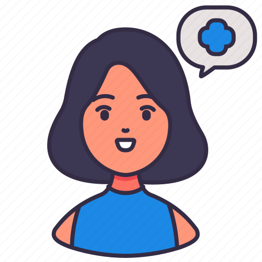avatar, healthcare, informative, medical, people, talking, woman icon