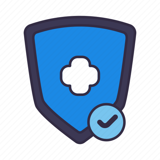 healthcare, hospital, medical, protect, safe, shield, vaccine icon