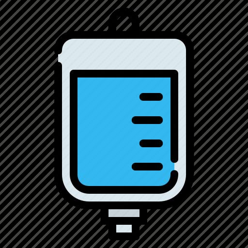 Bag, blood, infusion, iv bag, medicine, saline, transfusion icon - Download on Iconfinder