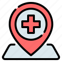 clinic, hospital, location, medical, pin, place, placeholder