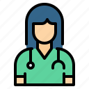 avatar, doctor, medical, nurse, physician, stethoscope, surgeon