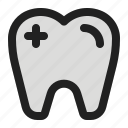 health, healthcare, hospital, medical, tooth icon