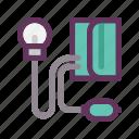 blood pressure, bp, gauge, healthy, medical, sfigmomanometer, tension icon